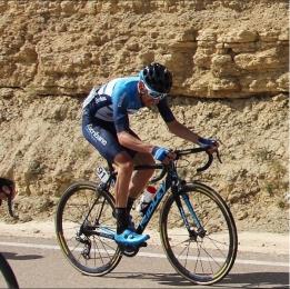 Oscar on the final climb