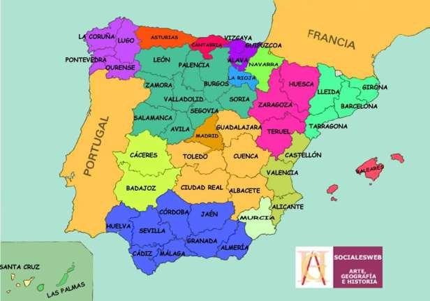 provincias-de-espac3b1a